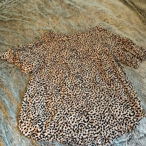 H&M cheetah top